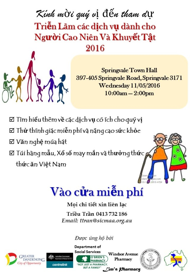 Aged & Disability Expo 2016 (Viet)