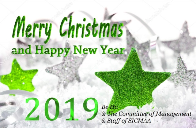 Christmas background with Merry Christmas and happy new year 201